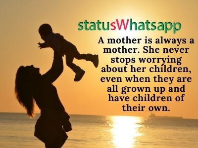 Whatsapp Status on Mother